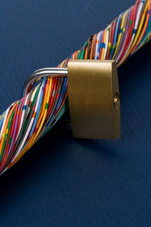 Colorful Cable, Concept of Communication, information security Stock Photo - 5139047