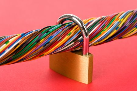 Colorful Cable, Concept of Communication, information security Stock Photo - 5139066