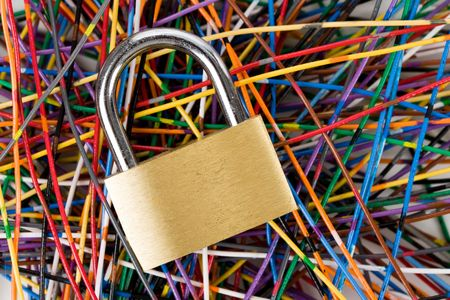 Colorful Cable, Concept of Communication, information security Stock Photo - 5139071