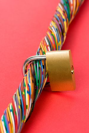 Colorful Cable, Concept of Communication, information security Stock Photo - 5200340