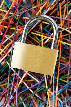 Colorful Cable, Concept of Communication, information security Stock Photo - 5200346