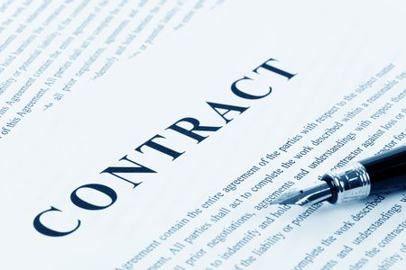business contract: Business Contract and pen close up