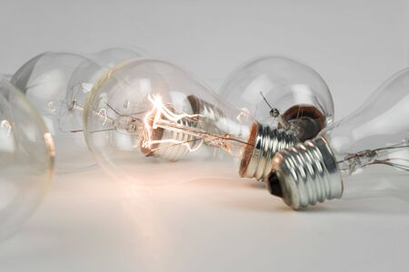 Bright Light Bulb close up shot Stock Photo - 5221751