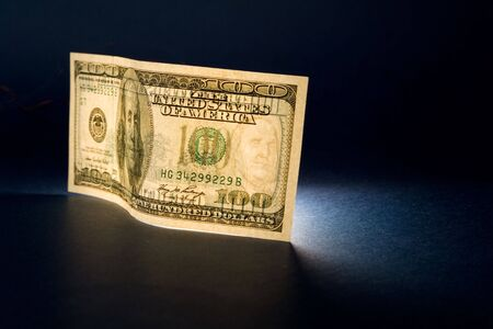 transparence: Dollar and light Stock Photo