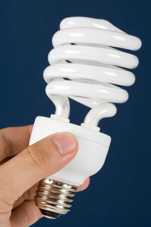 Compact Fluorescent Lightbulb clsoe up photo
