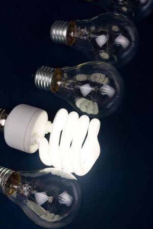 Compact Fluorescent Light bulb clsoe up