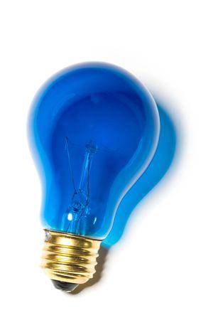Blue Light Bulb close up shot