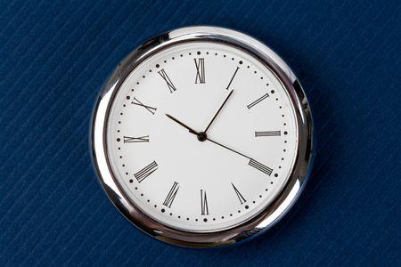 primer plano cara: Clock Face plano corto Foto de archivo