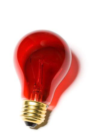 Red Light Bulb close up shot Banco de Imagens