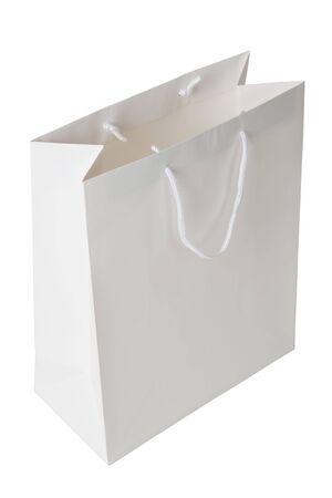 White Shopping Bag close up shot Stock Photo - 5512943