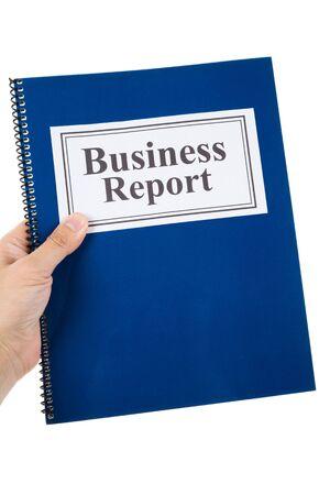 informe comercial: Informe de negocios con el fondo blanco