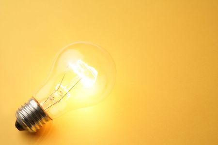 Bright Light Bulb close up shot Stock Photo - 5513044