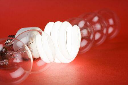 Compact Fluorescent Light bulb and tungsten Light bulb