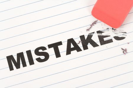 eraser and word mistakes, concept of Making Changing Stock Photo - 5688785