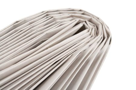 Folded Newspaper with white background