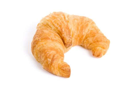Croissant with white background Stok Fotoğraf - 5774393