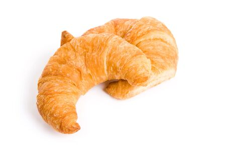 Yellow Croissant with white background
