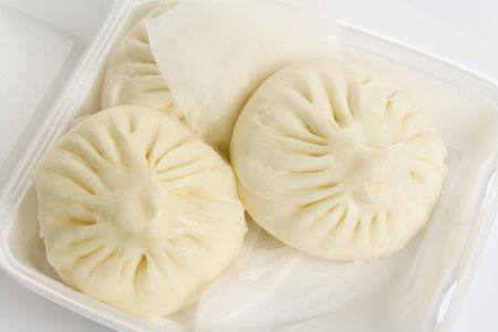 a Chinese steamed bun, BaoZi