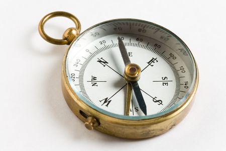 Oude Compass close up shot Stockfoto