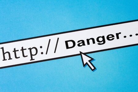 safety: Danger, concept of online safety, Social Issues Stock Photo