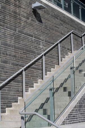 Stenen muur en trap voor achtergrond