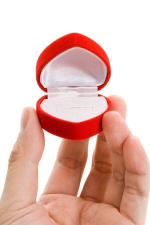 shaped: Red Heart Shaped Jewel Box close up