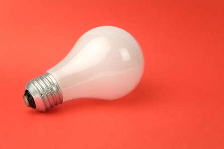 White Light Bulb close up shot