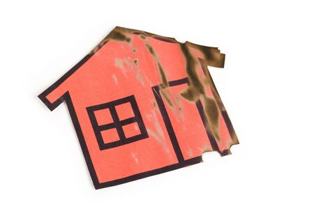 a burned red home sign,  Real Estate Concept  photo