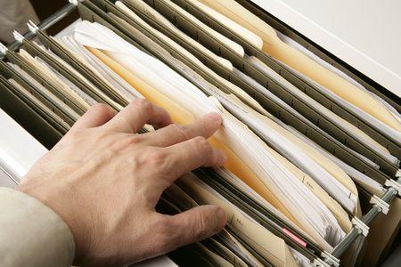file cabinet: Archivador cerrar shot