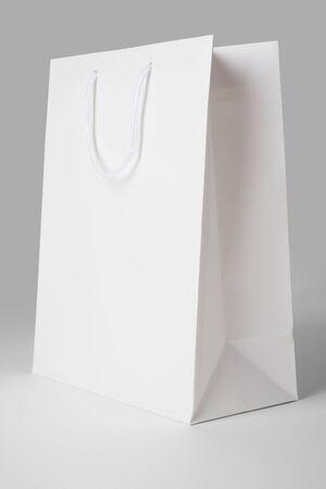 White Shopping Bag close up shot