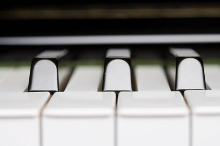 music background:  Piano Key close up shot Stock Photo