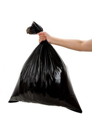 Black Garbage Bag close up photo