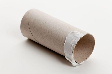 papel higienico: Roll vac�a de papel de tocador close up  Foto de archivo