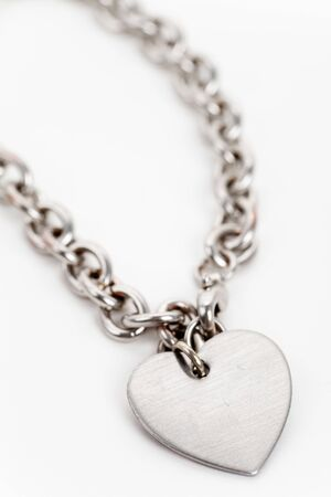 Chain and Heart Shape close up photo