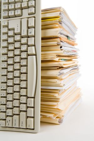 File Stack, Computer Keyboard, business concept