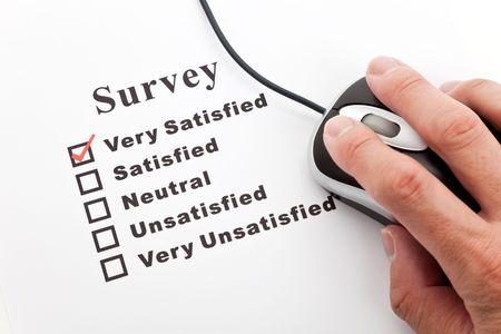 Survey, questionnaire and computer mouse, business concept Stock Photo - 6944834
