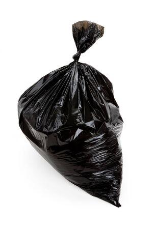 Black Garbage Bag close up
