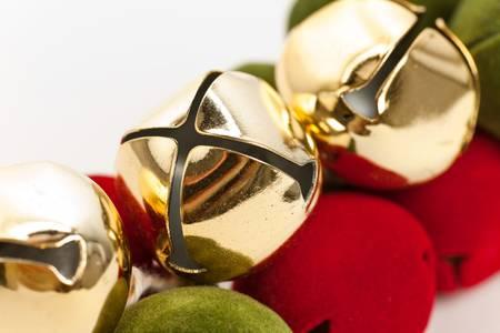 Christmas Bells close up shot Stock Photo
