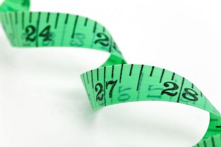 Green Tape Measure close up Stok Fotoğraf