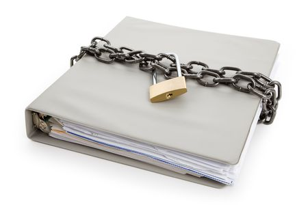 Lock and file folder, concept of Confidential Document Stock Photo - 7071357