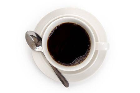 白バック グラウンドでコーヒー カップ