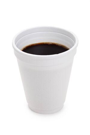 흰색 배경 가진 일회용 컵