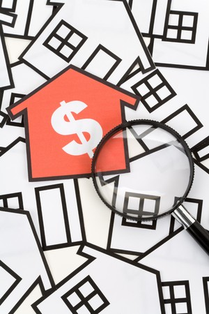 a red home sign,  Real Estate Concept Stock Photo - 7140539