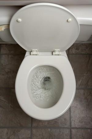 화장실, 물 내리는, 닫기 스톡 콘텐츠