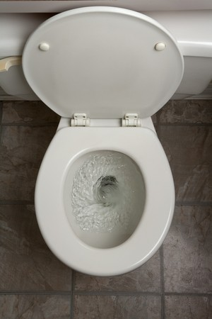 flushing: Toilet, Flushing Water, close up