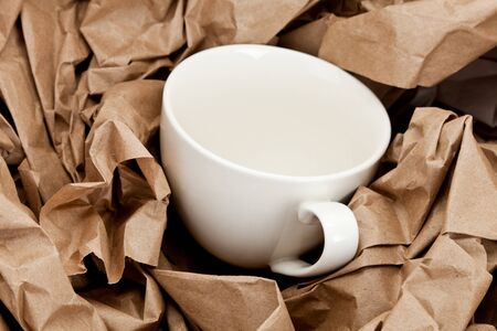 material: Brown Paper and cup, packing material.