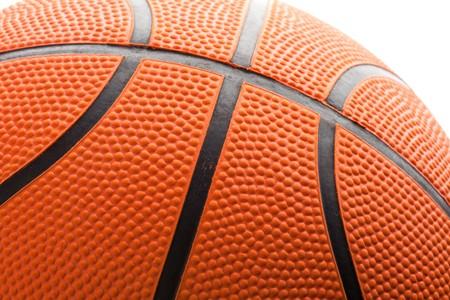 background texture: Orange Basketball close up shot