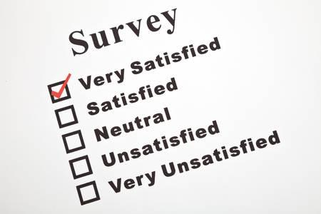 Umfrage und Fragebogen, Business-Konzept Standard-Bild - 7233973