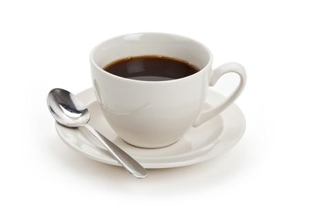 Tasse de café avec fond blanc Banque d'images - 7233958
