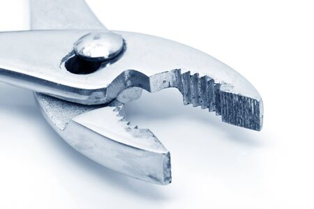 a Plier close up in blue tone